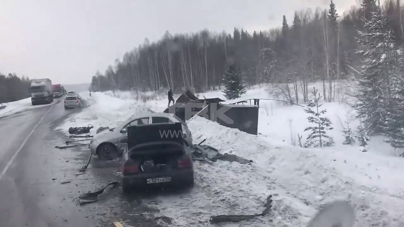 ДТП в Козульском районе на трассе Р255 Сибирь