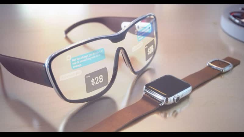 Apple Glass концепт интерфейса умных очков