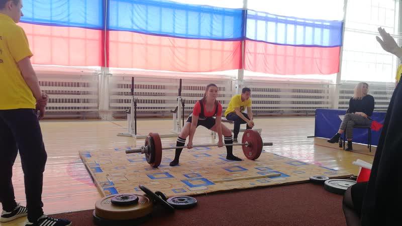 Кадочникова Ева. Становая тяга 125 кг