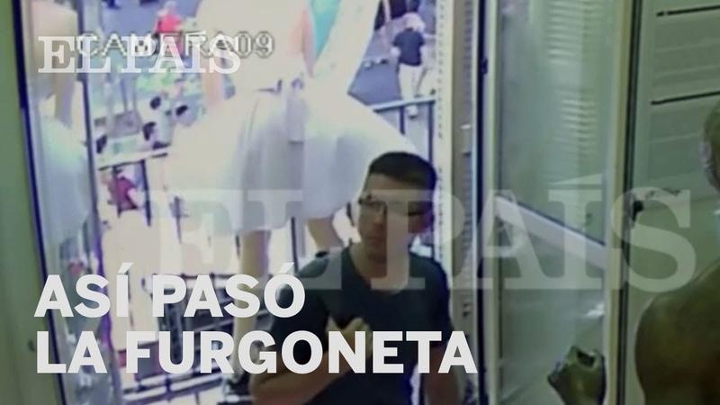 Primeras imágenes del paso de la furgoneta en el atentado de Barcelona | España