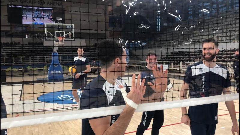 Trentino Volley al lavoro con Covernet, la rete da pallavolo Covid Free