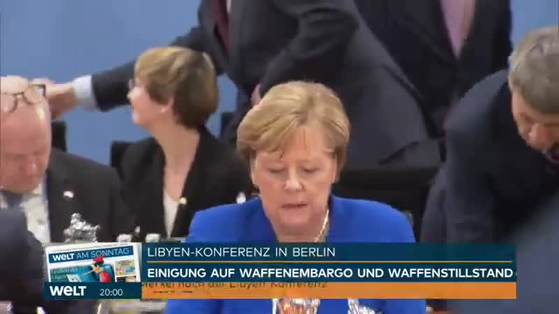 WELT THEMA Libyen Konferenz Merkel baut wackeligen Steg zum Waffenstillstand