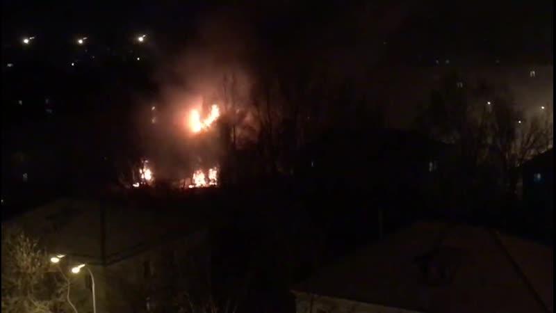 Крупный пожар на Эльмаше