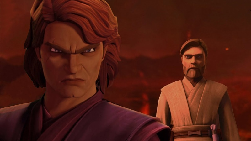 Obi-Wan vs Anakin With Their Clone Wars Voices (UpdatedExtended Version)