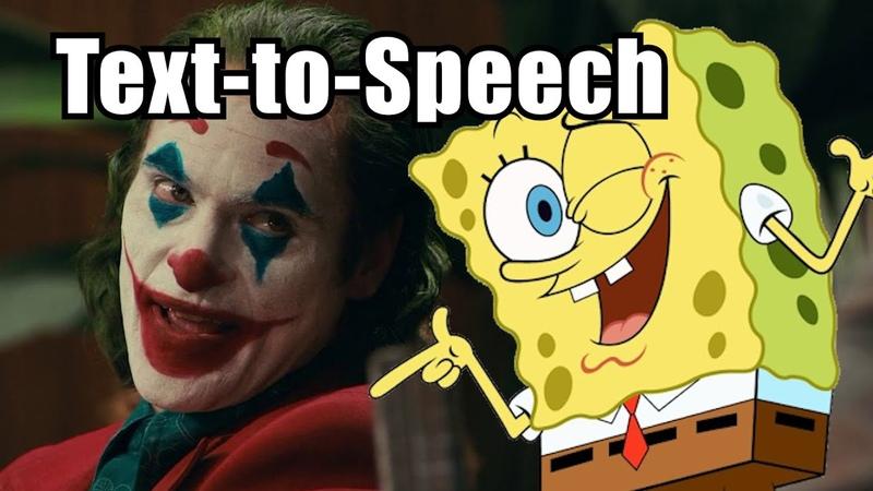 Joker but it's text to speech Spongebob