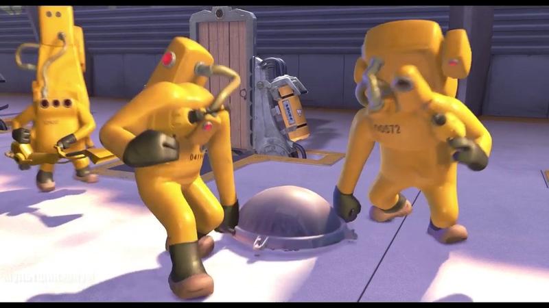 Коронавирус в мультфильме Дезинфекция зараженного Джорджа Корпорация монстров 2001 год COVID 19