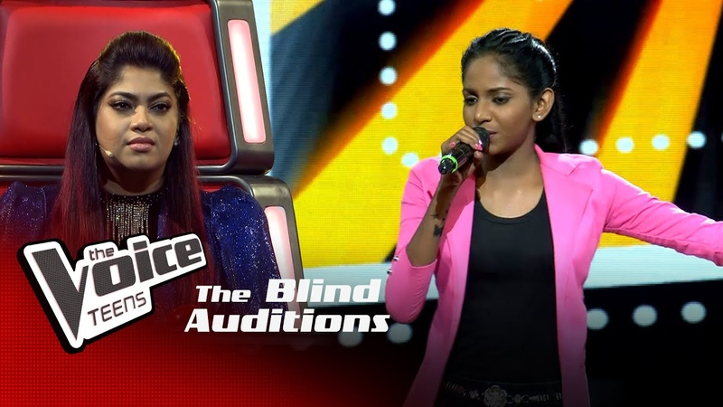 Dahami Anuththara Dangakara Heene ඳඟකාර හීනේ Blind Auditions The Voice Teens Sri Lanka