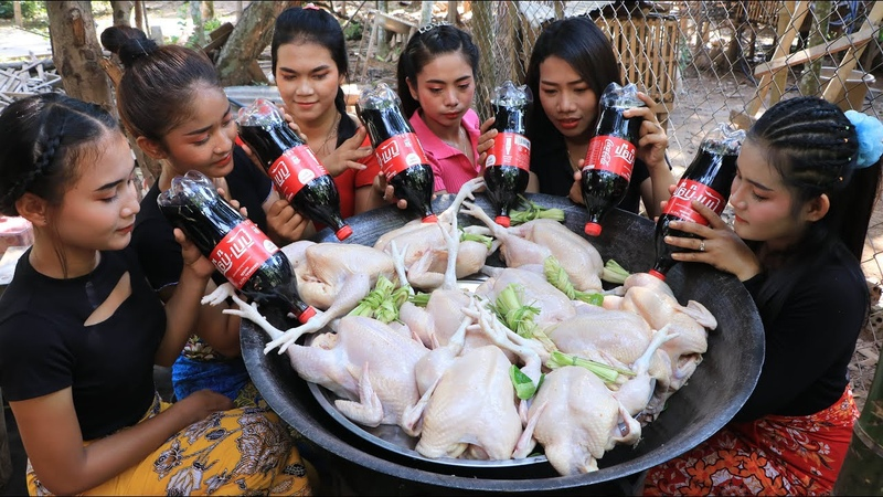Wow amazing cooking chicken roasted with coca cola recipe