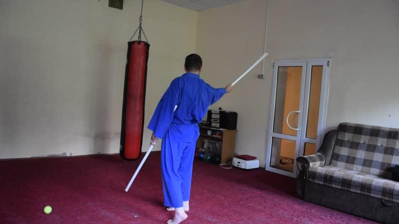 Тайская техника работы двумя мечами