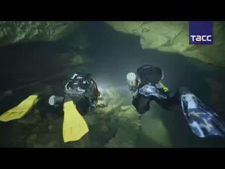 Свадьба дайверов в подводной пещере