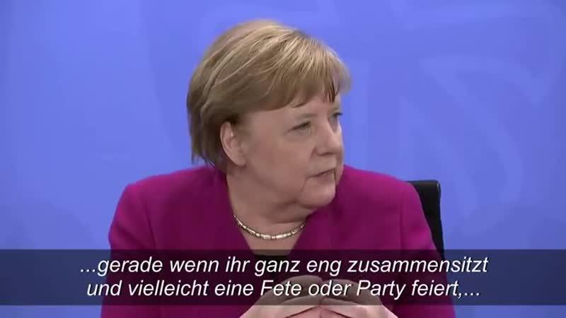 Merkel warnt vor Corona Gefahr in Privaträumen