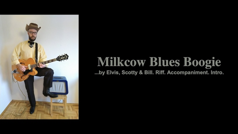 Rockabilly Finger Picking Milkcow Blues by Elvis Scotty and Bill Riff Accompaniment Intro