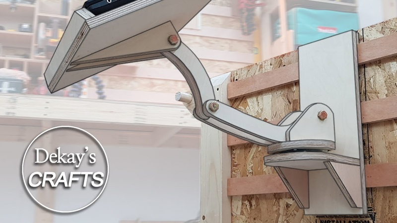 자유롭게 회전하는 노트북 태블릿 거치대 만들기 Rotating Swivel Laptop Desk [목공, DIY, woodworking]