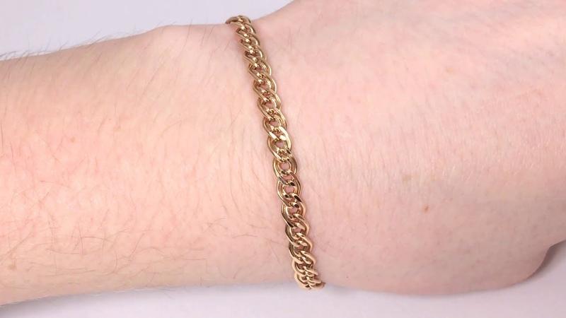 Золотой браслет Нонна Красное золото 585 пробы Заводской Новый Российский