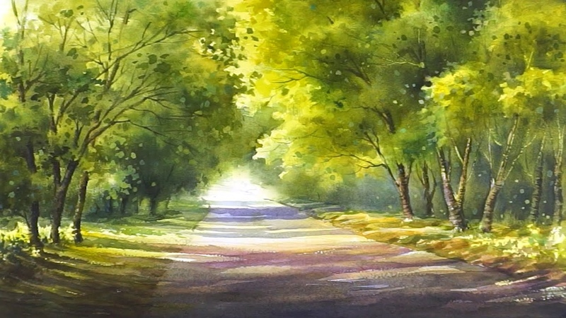 A feeling of spring Watercolor Landscape Painting