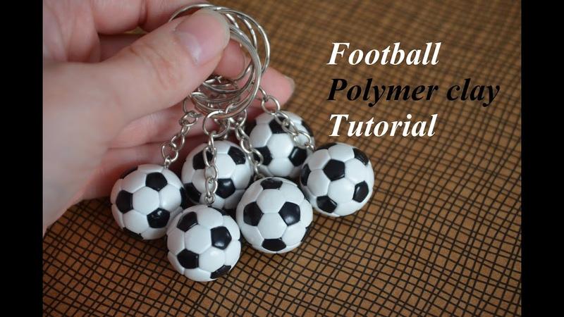 Polymer clay football Tutorial Fimo Fußball WM футбольный мяч из полимерной глины DIY