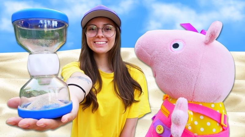 En reloj de arena de Peppa Pig Juguetes infantiles en español Vídeos infantiles educativos