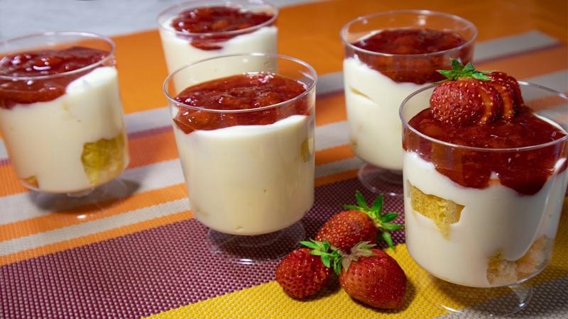 Клубнично ванильный пудинг Strawberry Vanilla Pudding