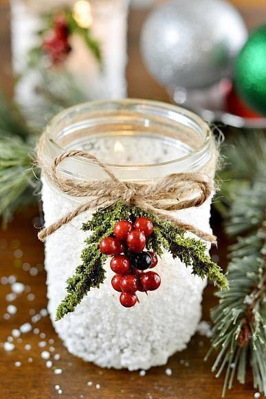 Зимний подсвечник своими руками Сделай свой дом уютней!