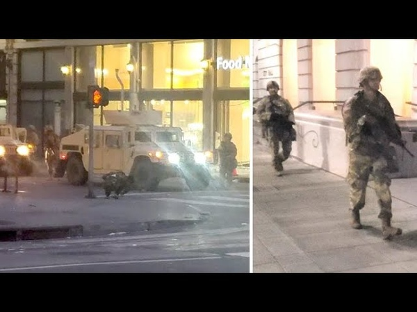 National Guard Arrives In Downtown Los Angeles As Riots Ravage The City