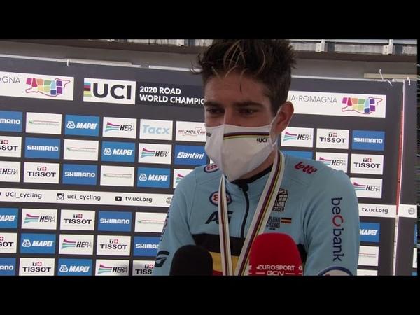 Wout van Aert - Post-race interview - WCh. ITT - Imola 2020