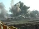 Высокоточный удар с Американского бомбардировщика по засевшим боевикам Талибан в Афганистане