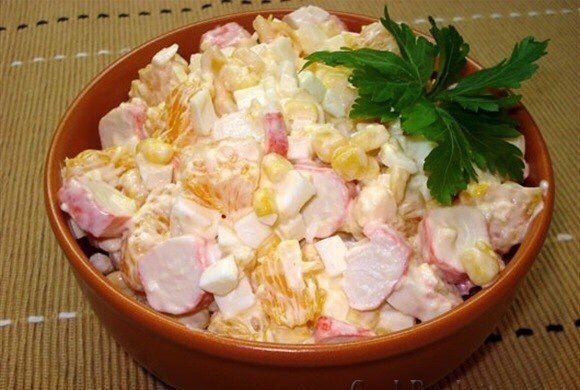 Сытный салат с крутым вкусом