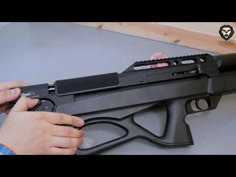 Пневматическая винтовка EDgun Матадор R5M Standart 6 35 476 мм пластик буллпап видео обзор 4k