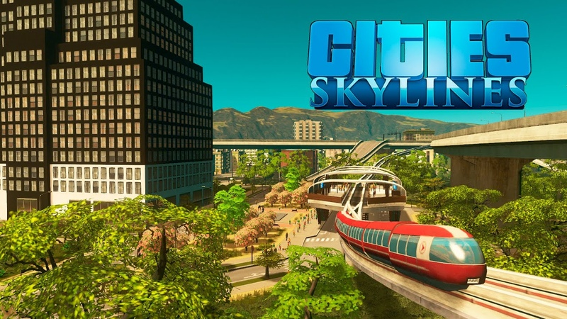 Cities Skylines Трикселион запуск монорельс жилой район 43