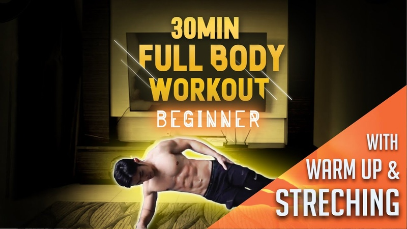 [Level 1] 30 Minute Fat Burning Workout For Beginners with Warm Up Stretchings