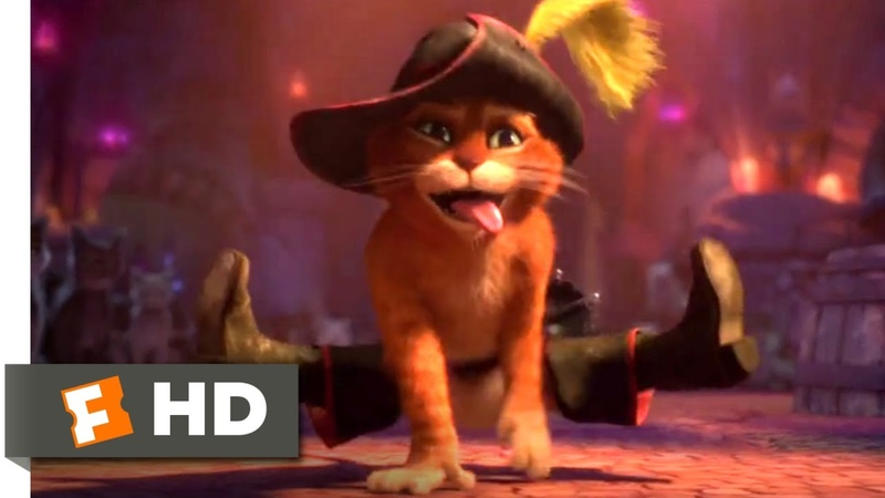 Puss in Boots (2011) - Cat Dance Fight Scene (210) | Movieclips