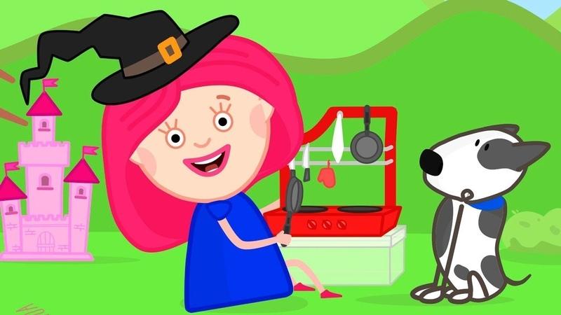 Smarta y Spotty van al picnic Smarta y su bolso mágico Dibujos animados para niños
