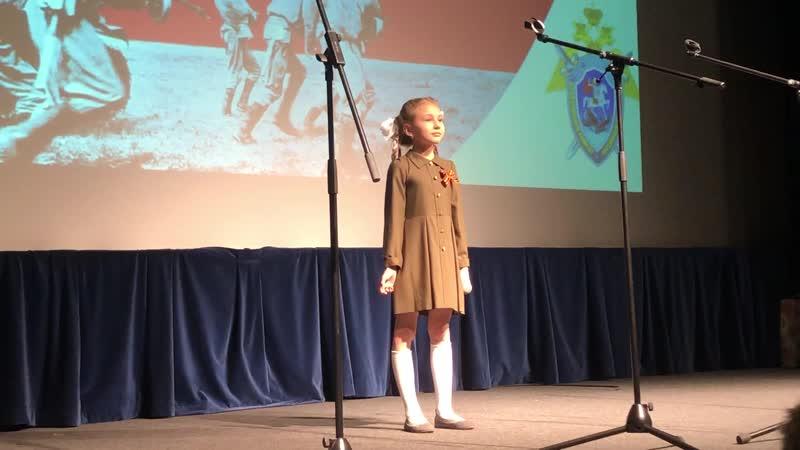 Патриотическая песня - Бармина Екатерина 8 лет - «Оловянный солдатик» А.Гарнизов - Е.Муравьев