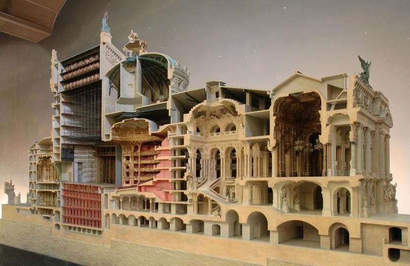 макет Опера Гарнье в разрезе