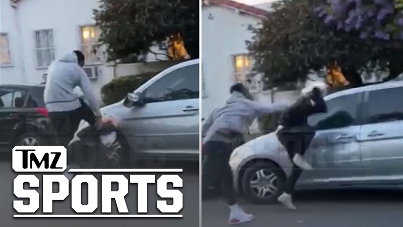J.R. Smith Beats Up Alleged Car Vandalizer During L.A. Protests TMZ Sports
