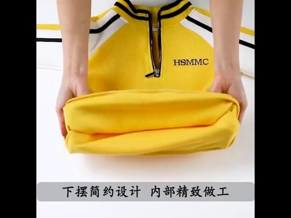 Модный комплект одежды для девочек спортивный костюм подростков осенний топ с длинными рукавами