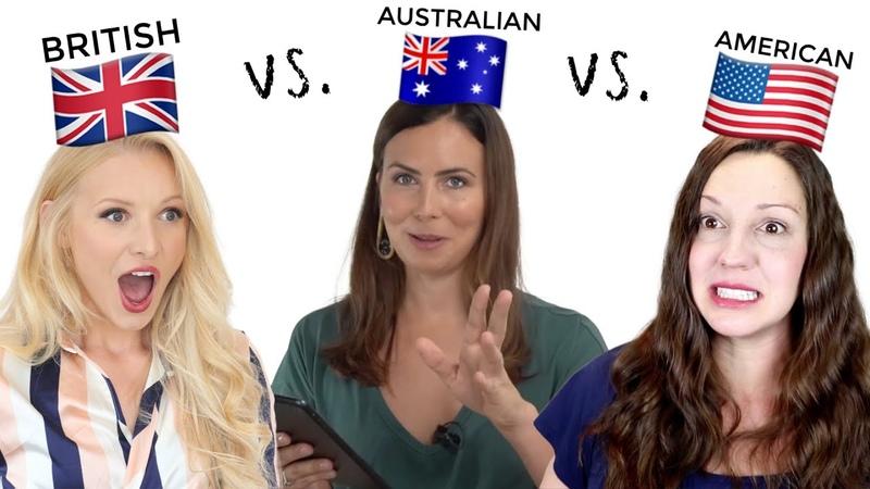 ONE language, THREE accents - UK vs. USA vs. AUS English!