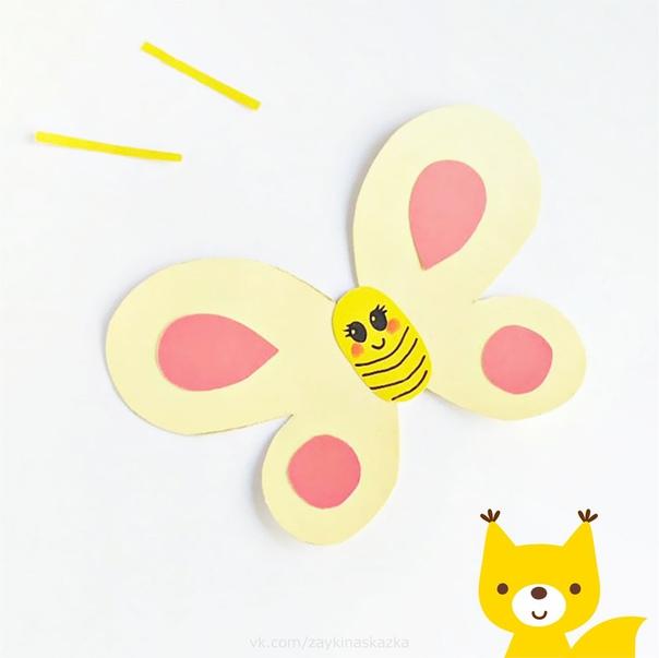 БАБОЧКИ ИЗ ЦВЕТНОЙ БУМАГИ Удивительный цветок:Жёлтый, красный лоскуток!А по краю кружева,Ой, с усами голова!Вот так чудо-чудеса Это бабочка краса,Летняя красавицаОчень всем нам нравится!Т.