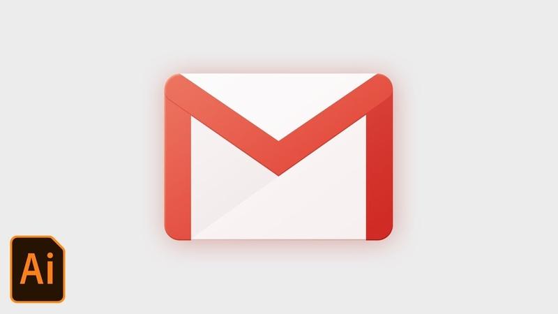Gmail App Icon Design Tutorial Illustrator CC 2018