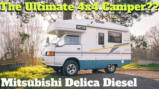 This 1995 Mitsubishi Delica 4x4 Diesel Truck Camper can take you almost anywhere