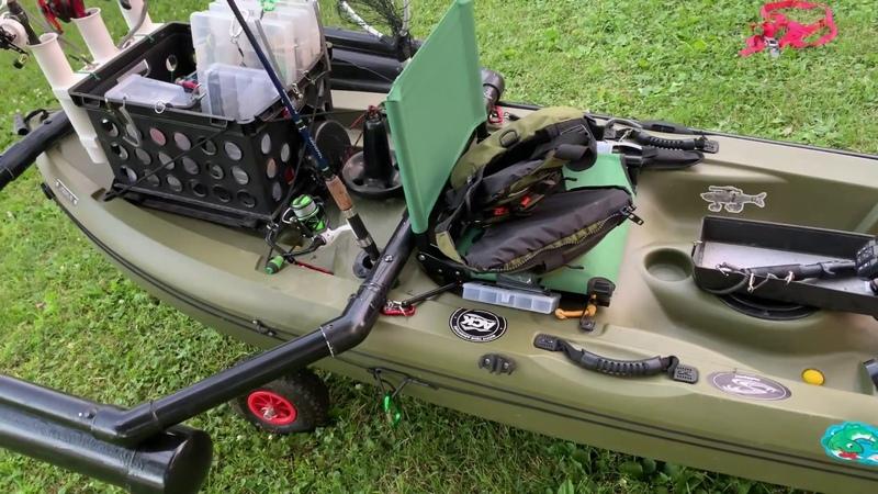 Lifetime Tamarack Kayak ModReview OutriggersFish Finder