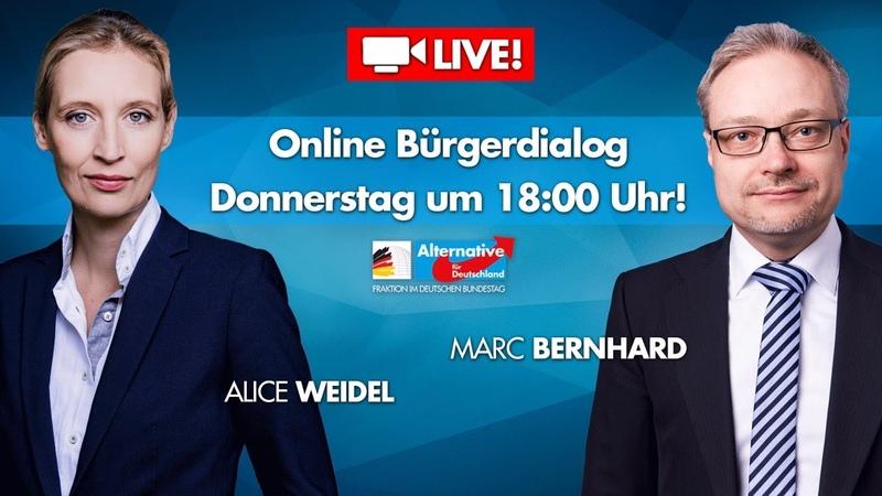Live: Bürgerdialog mit Alice Weidel und Marc Bernhard!