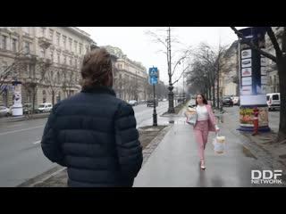 DDFNetwork - Anastasia Brokelyn deepthroats and pussy fucked standing wearing stilettos / Anastasia Brokelyn & Vince
