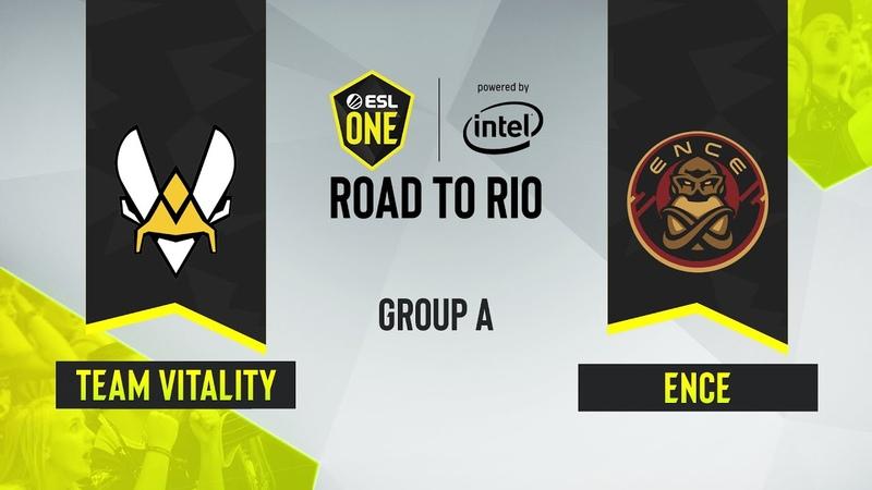 CS GO Team Vitality vs ENCE Mirage Map 1 ESL One Road to Rio Group A EU