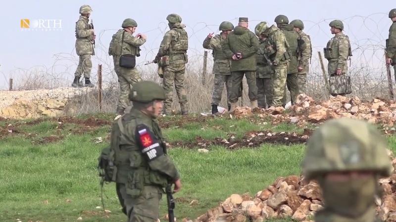 كوباني القوات الروسية والتركية تسير دوري 15