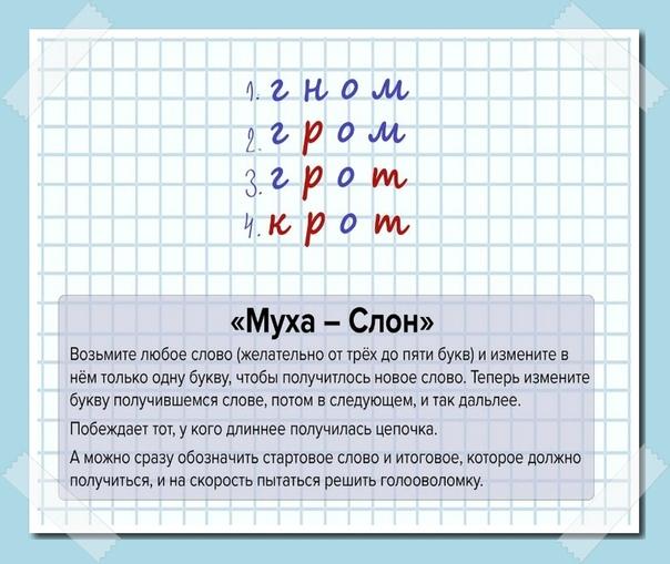 Игры для расширения словарного запаса В детстве активно играли в такие.