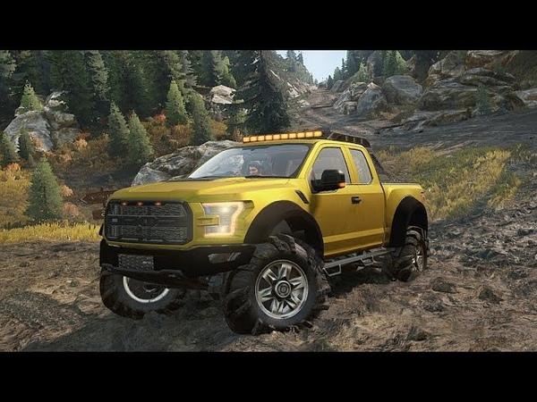 SnowRunner Моды Ford F150 Raptor 2017 Оффроуд Тест драйв