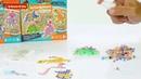 Набор для творчества Bondibon Блестящая аквамозаика. Роботы и Динозавры