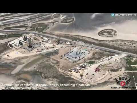 Exclusive Aerial Flyover! Space X Boca Chica Launch Site!