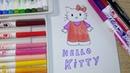 How draw Hello Kitty howdraweasy art topi top